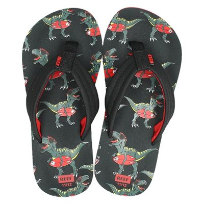 Reef jongens slippers zwart