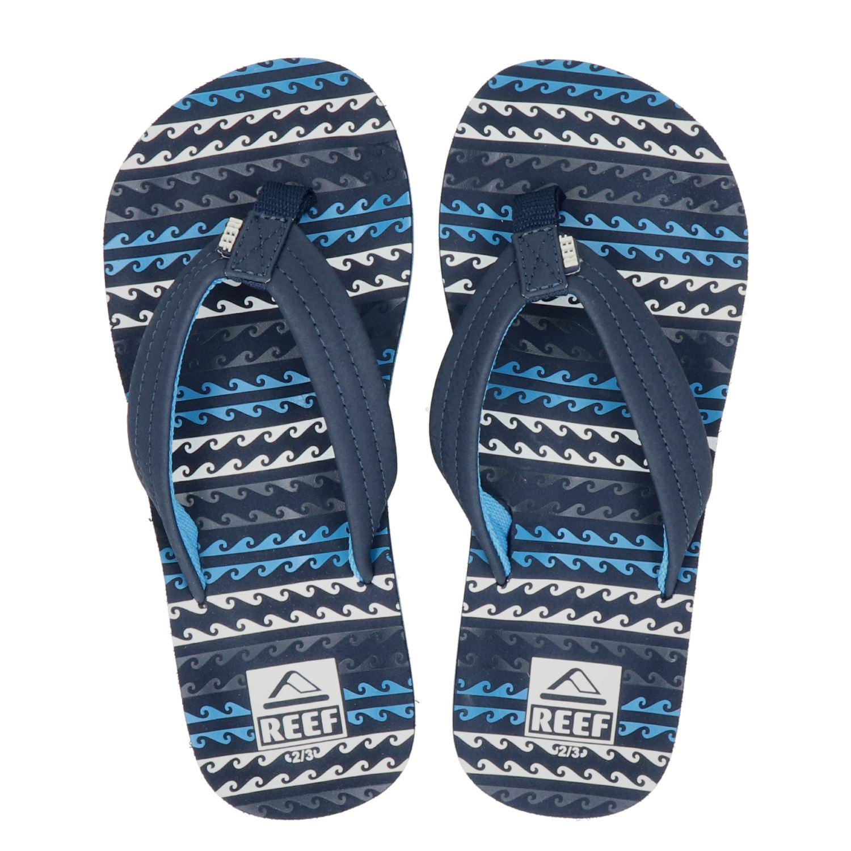 2b59144820f Reef Kids AHI jongens slippers blauw