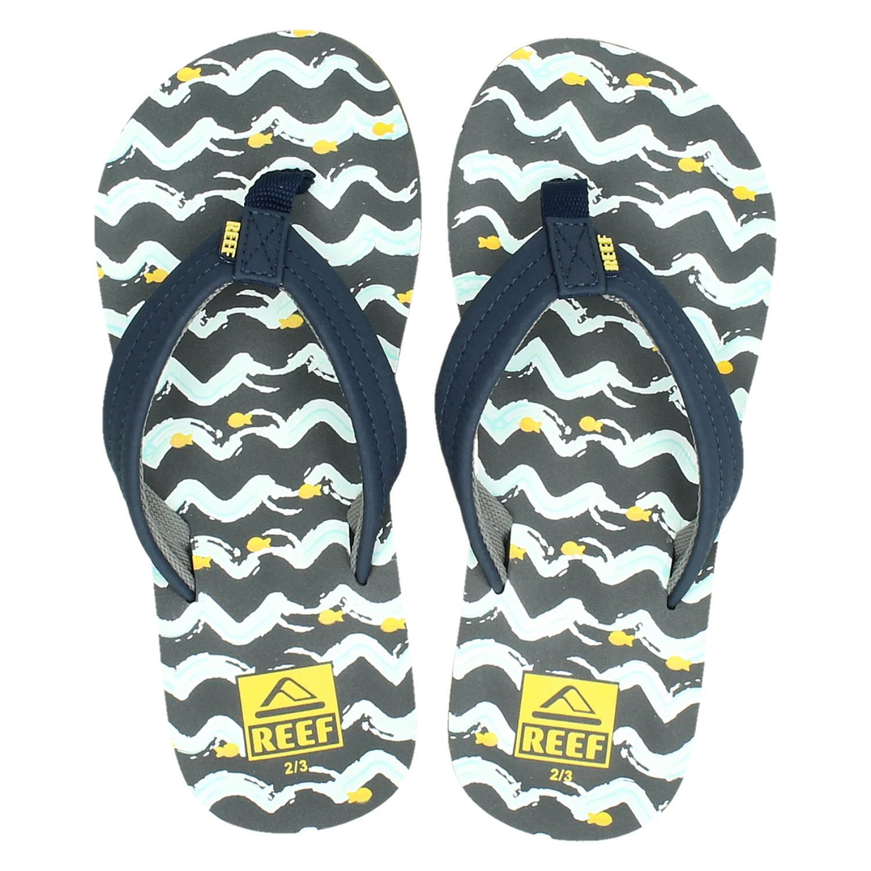 4de274b7992 Reef Ahi fish jongens slippers blauw
