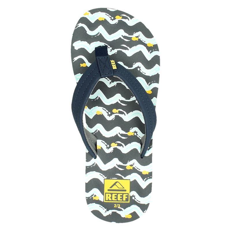 Reef Ahi fish - Slippers - Blauw