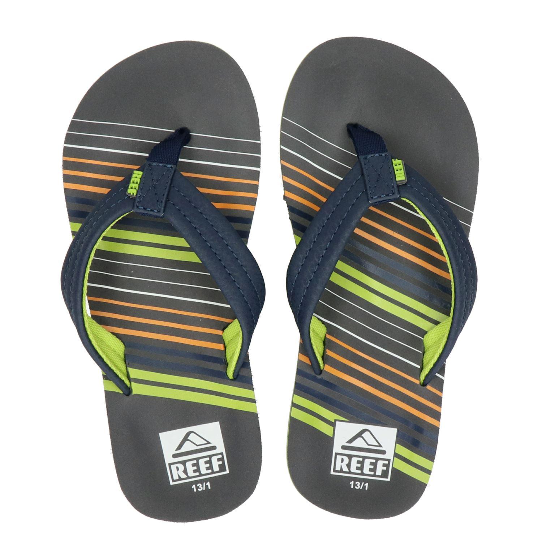 9117b2134b3 Reef Ahi stripe jongens slippers blauw