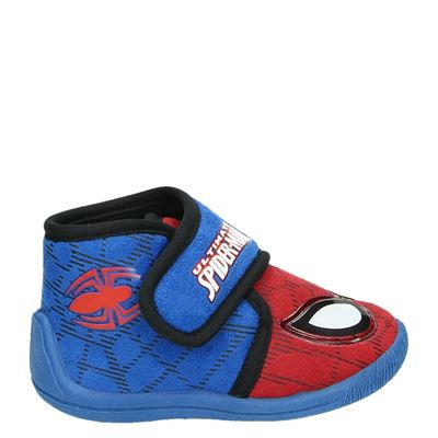 Ultimate Spiderman jongens pantoffels blauw