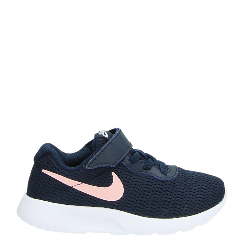 03dd7c10785 Nike Tanjun meisjes lage sneakers blauw