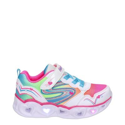 Skechers Heart Lights - Klittenbandschoenen - Wit