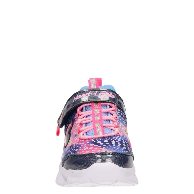 Skechers Heart Lights - Klittenbandschoenen - Blauw