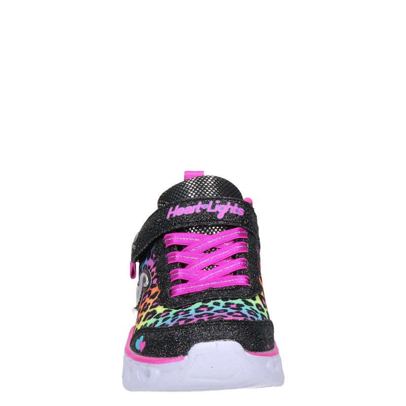 Skechers Heart Lights - Klittenbandschoenen - Zwart