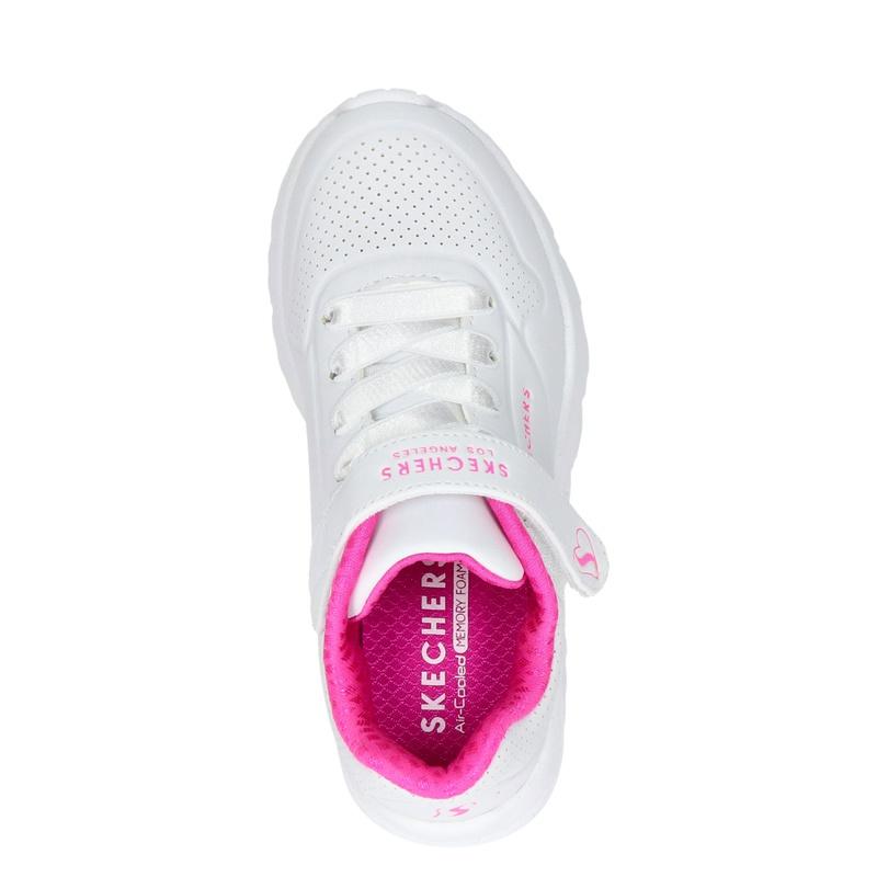 Skechers Uno Lite - Klittenbandschoenen - Wit