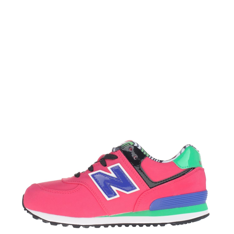 New Balance KL574 meisjes lage sneakers roze
