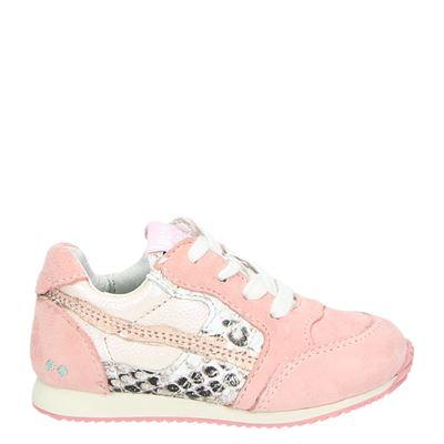 Bunnies meisjes lage sneakers roze