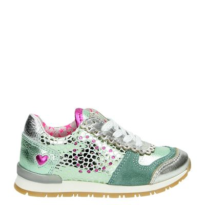 Mim-Pi meisjes lage sneakers groen