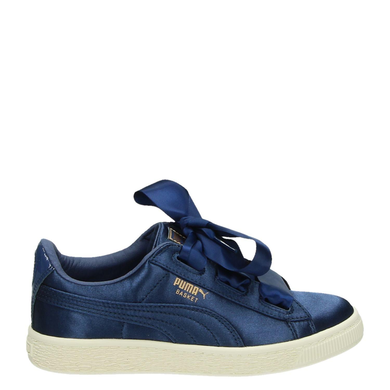 2f8dceac6a5 Puma Basket Heart Tween meisjes lage sneakers blauw