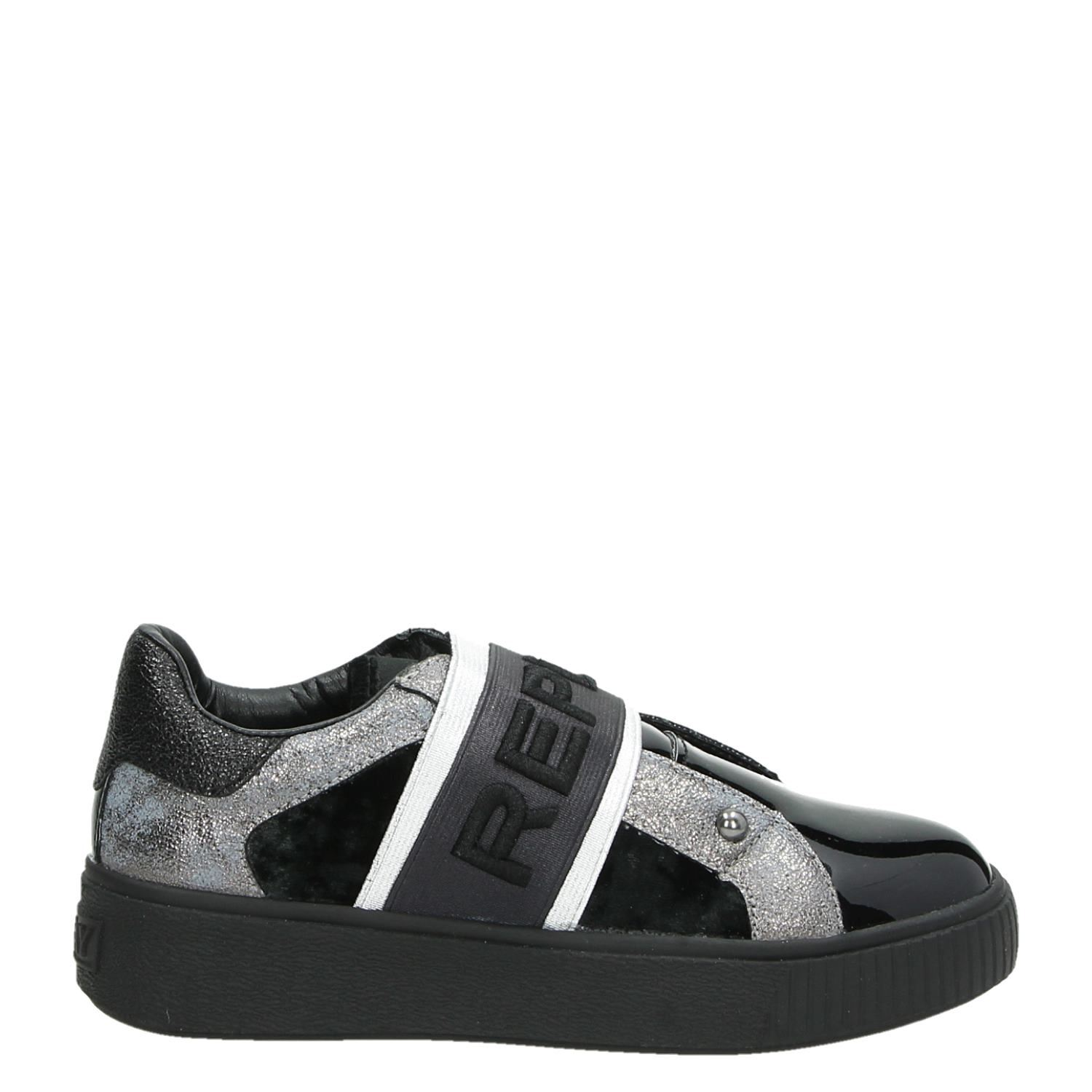 new style 06d05 2e6b1 Replay Donna meisjes lage sneakers zwart