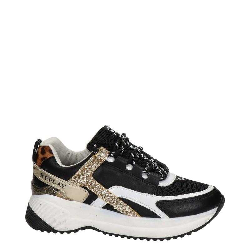 Replay Kumi - Dad Sneakers - Zwart