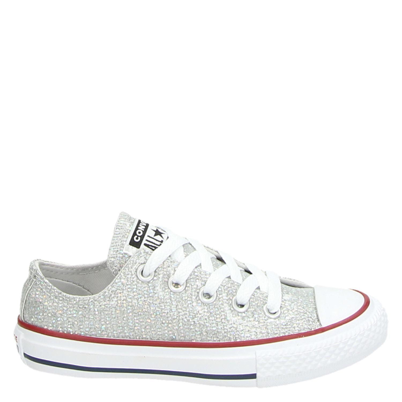 691a7a7c74a Converse Chuck Taylor meisjes lage sneakers zilver