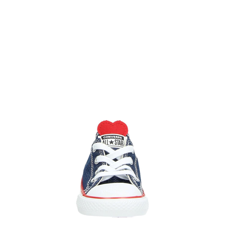 1ed96ec6e15 Converse Chuck Taylor meisjes lage sneakers blauw