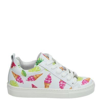 Giga meisjes lage sneakers wit