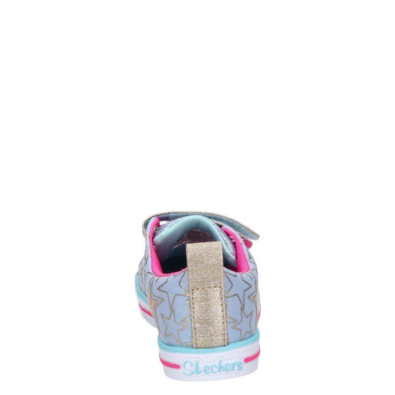 Skechers S-Lights - Klittenbandschoenen - Zilver