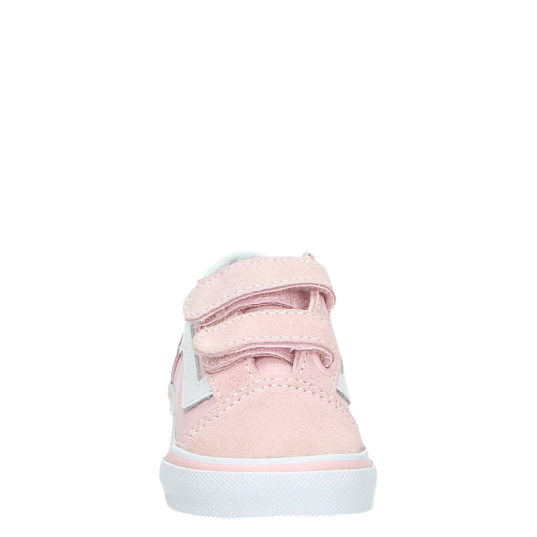 Vans Old Skool meisjes klittenbandschoenen roze