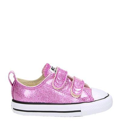 Converse meisjes klittenbandschoenen roze