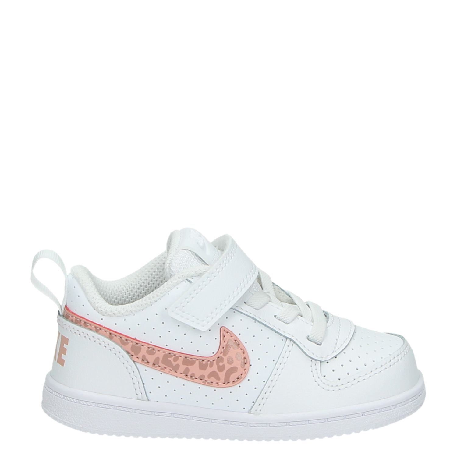 Nike Court Borough meisjes lage sneakers wit