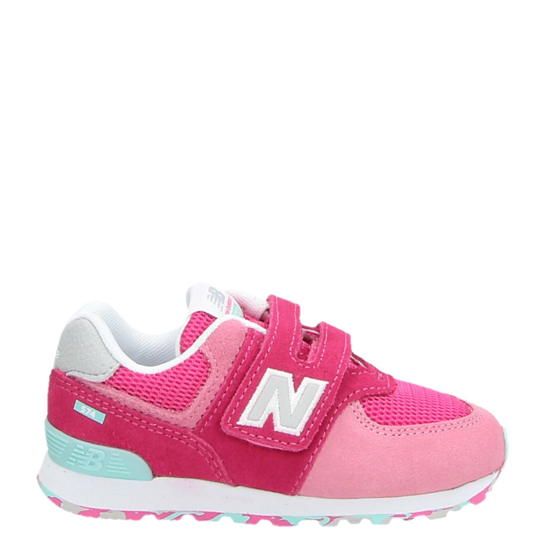 67723e6320a2e7 New Balance IV574 meisjes lage sneakers roze