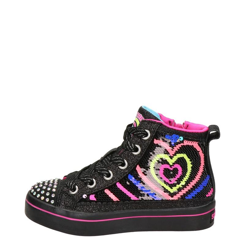 Skechers Flip Kicks - Hoge sneakers - Zwart