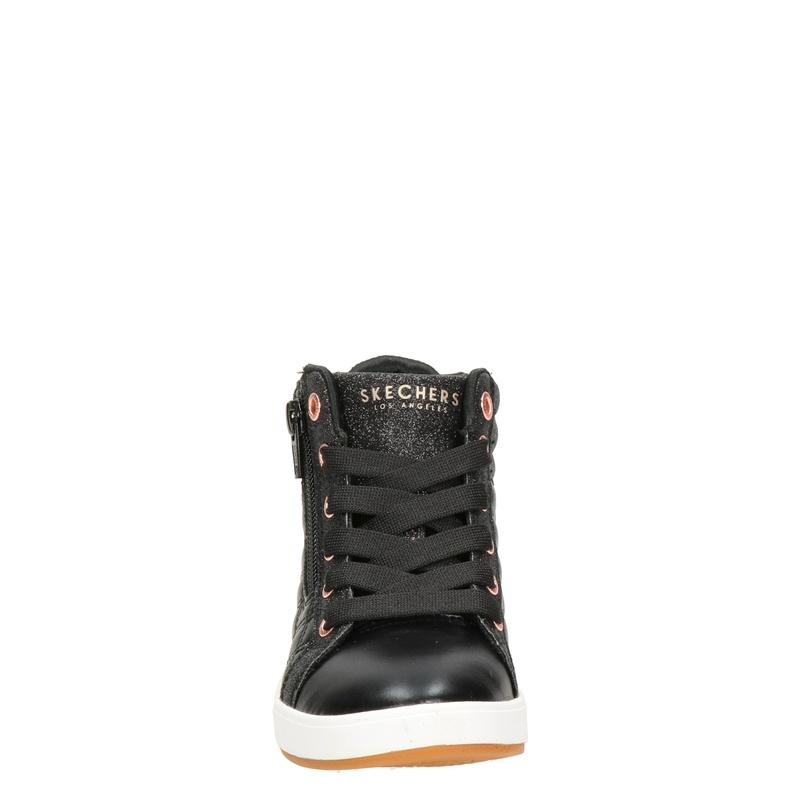 Skechers Quilted Sqaud - Hoge sneakers - Zwart