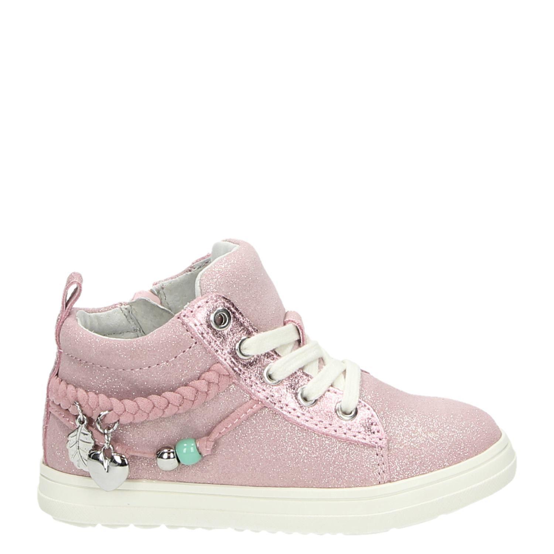 1b8fddf220b Hush Puppies meisjes hoge sneakers roze