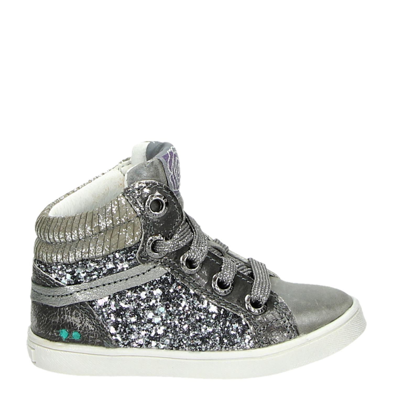 Bunnies hoge sneakers zilver