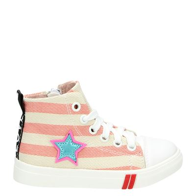 Shoesme meisjes hoge sneakers roze
