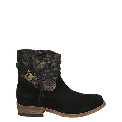 Clic! meisjes laarsjes & boots zwart