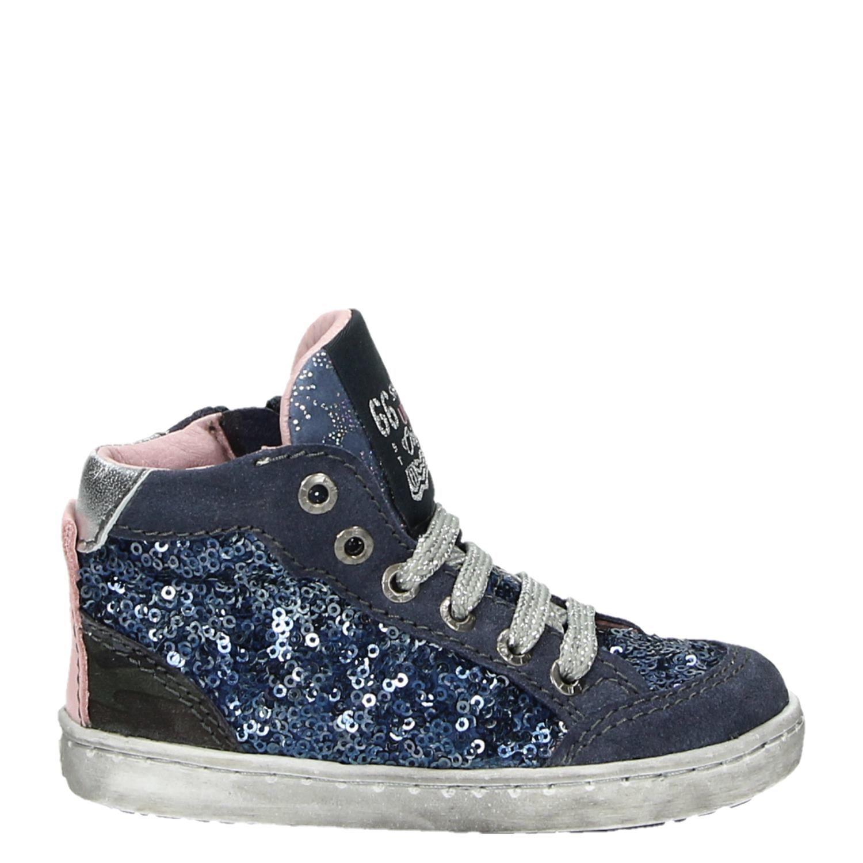 7a0c4b78567 Shoesme Urban meisjes hoge sneakers blauw
