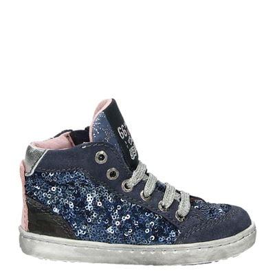 Shoesme meisjes hoge sneakers blauw
