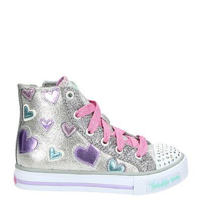Skechers meisjes sneakers zilver