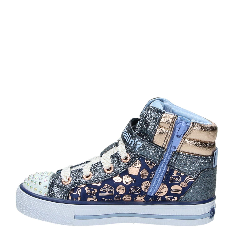 Skechers Twinkle Toes hoge sneakers blauw