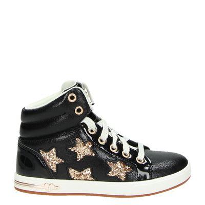 Skechers meisjes hoge sneakers zwart