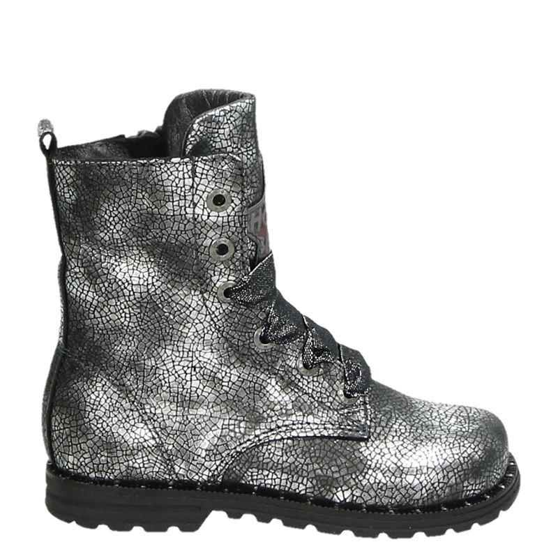 Shoesme - Veterboots - Zilver