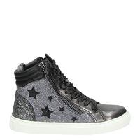 3812b334b4d Replay Sword-sting meisjes hoge sneakers grijs