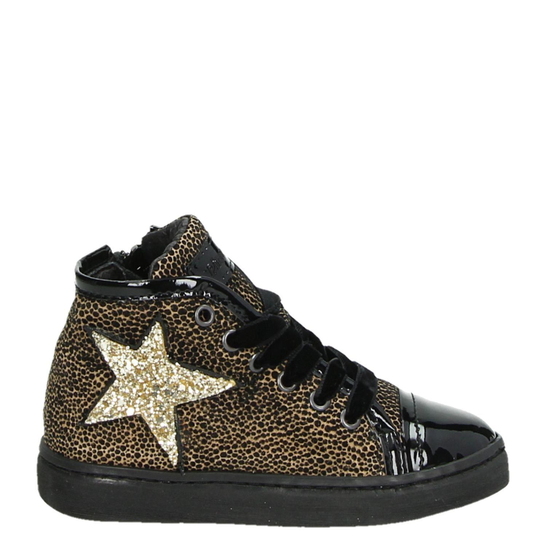 604140a124b Pinocchio meisjes hoge sneakers zwart