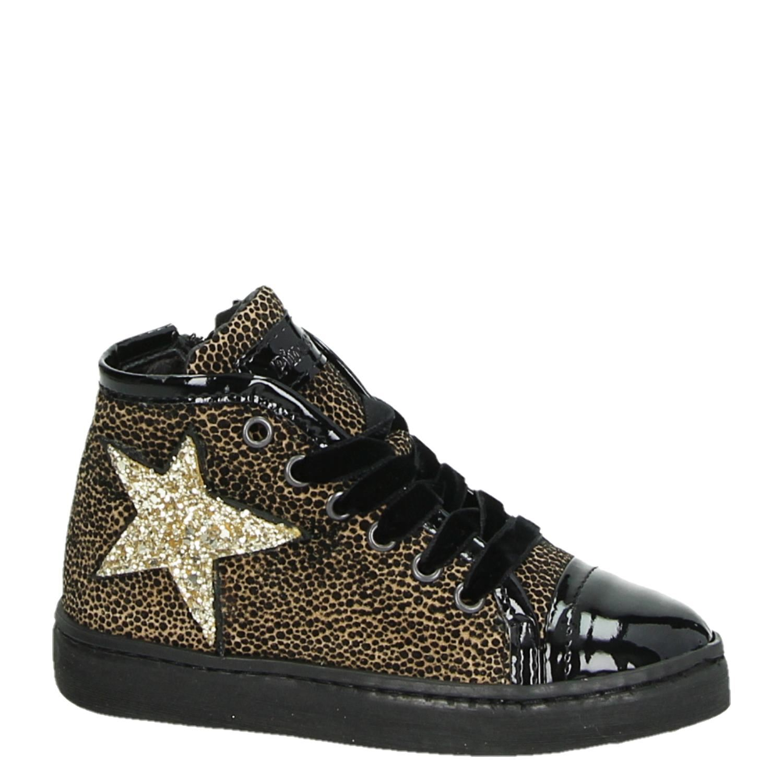 d0e2900da20 Pinocchio meisjes hoge sneakers zwart