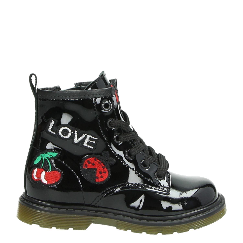 94d1731fb03 Pinocchio meisjes rits- & gesloten boots zwart