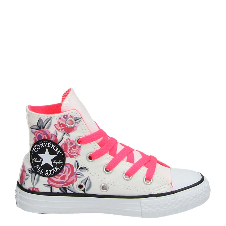 5e97f604add Converse Chuck Taylor meisjes hoge sneakers wit
