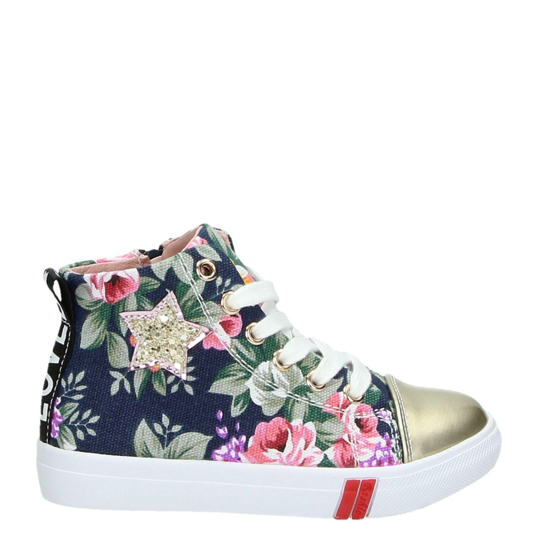 511e8cf1200 Shoesme meisjes hoge sneakers blauw
