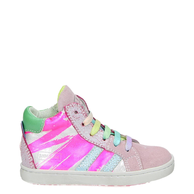 12604cf1599 Shoesme Urban meisjes hoge sneakers roze