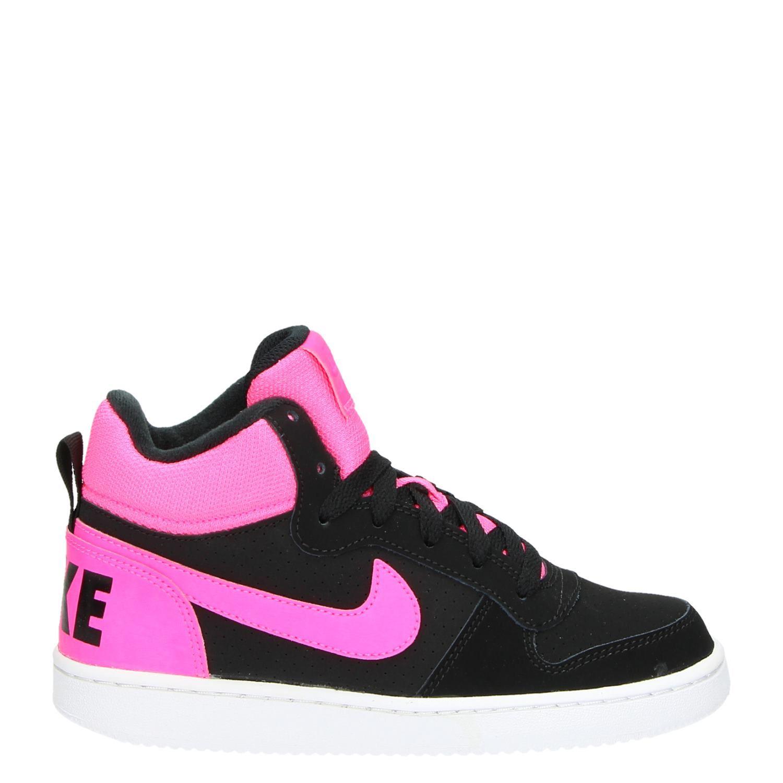 buy popular 8d9e0 fdf00 Nike Court Borough MID - Hoge sneakers - Zwart - Shoemixx.nl