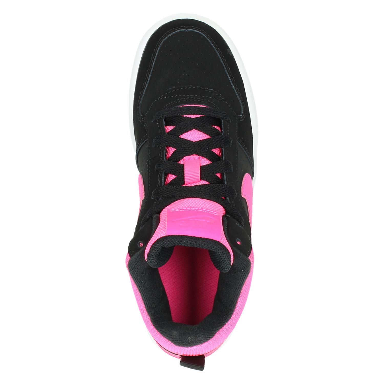 a86df52143e Nike Court Borough MID meisjes hoge sneakers zwart
