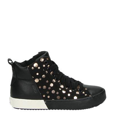 Geox meisjes hoge sneakers zwart
