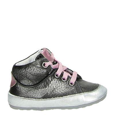 Jochie&Freaks meisjes sneakers zilver