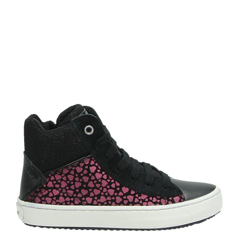 Geox kindersneaker zwart en print