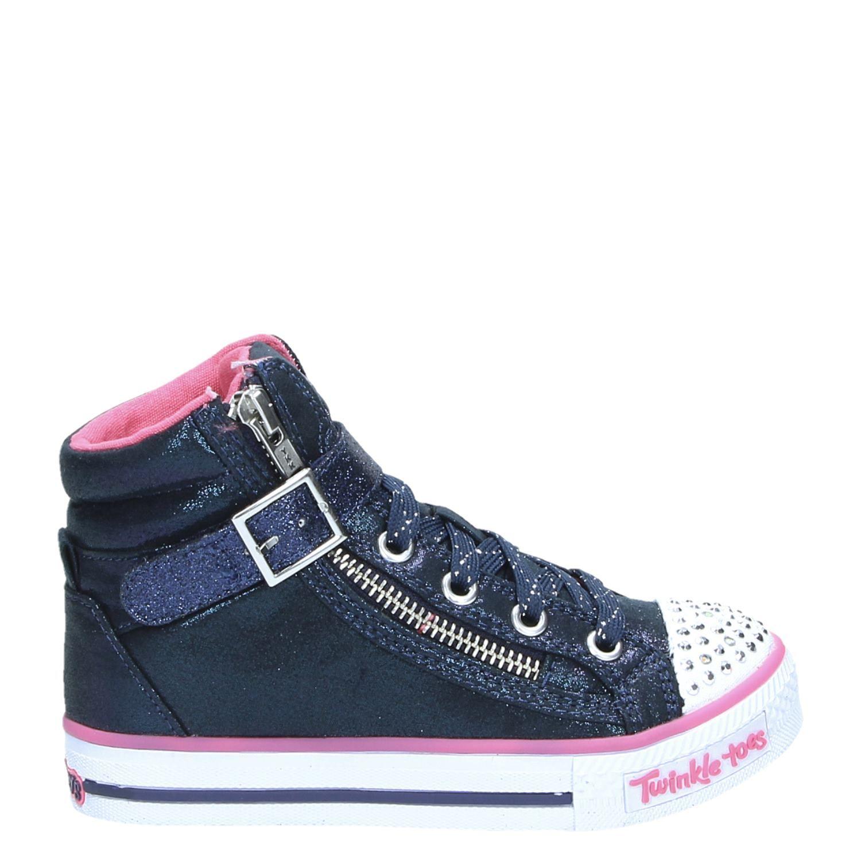 Skechers meisjes hoge sneakers blauw